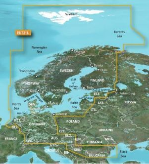 Garmin BlueChart g3 Vision HD, VEU721L Northerm Europe