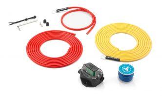 JL Audio vahvistimen 9 AWG virrankytkentäsarja 30A max 3.7 m etäisyydelle akustosta