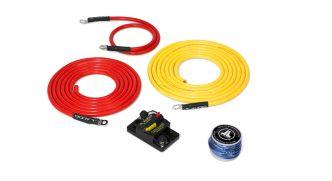 JL Audio vahvistimen 6 AWG virrankytkentäsarja 50A max 3.0 m etäisyydelle akustosta