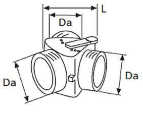 Webasto Y-haara säätöläpällä 80 x 80 x 80 mm