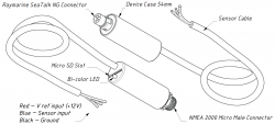 Yacht Devices YDTA-01 NMEA2000 säiliöadapteri