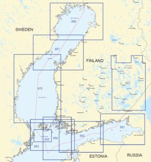 Yleismerikartta 954, Pohjois Itämeri itäosa 1:250 000 2017