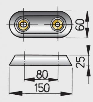 Vetus alumiinianodi, malli 15
