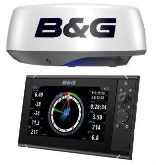 B&G Zeus3 9 monitoiminäyttö + Halo20+ tutka